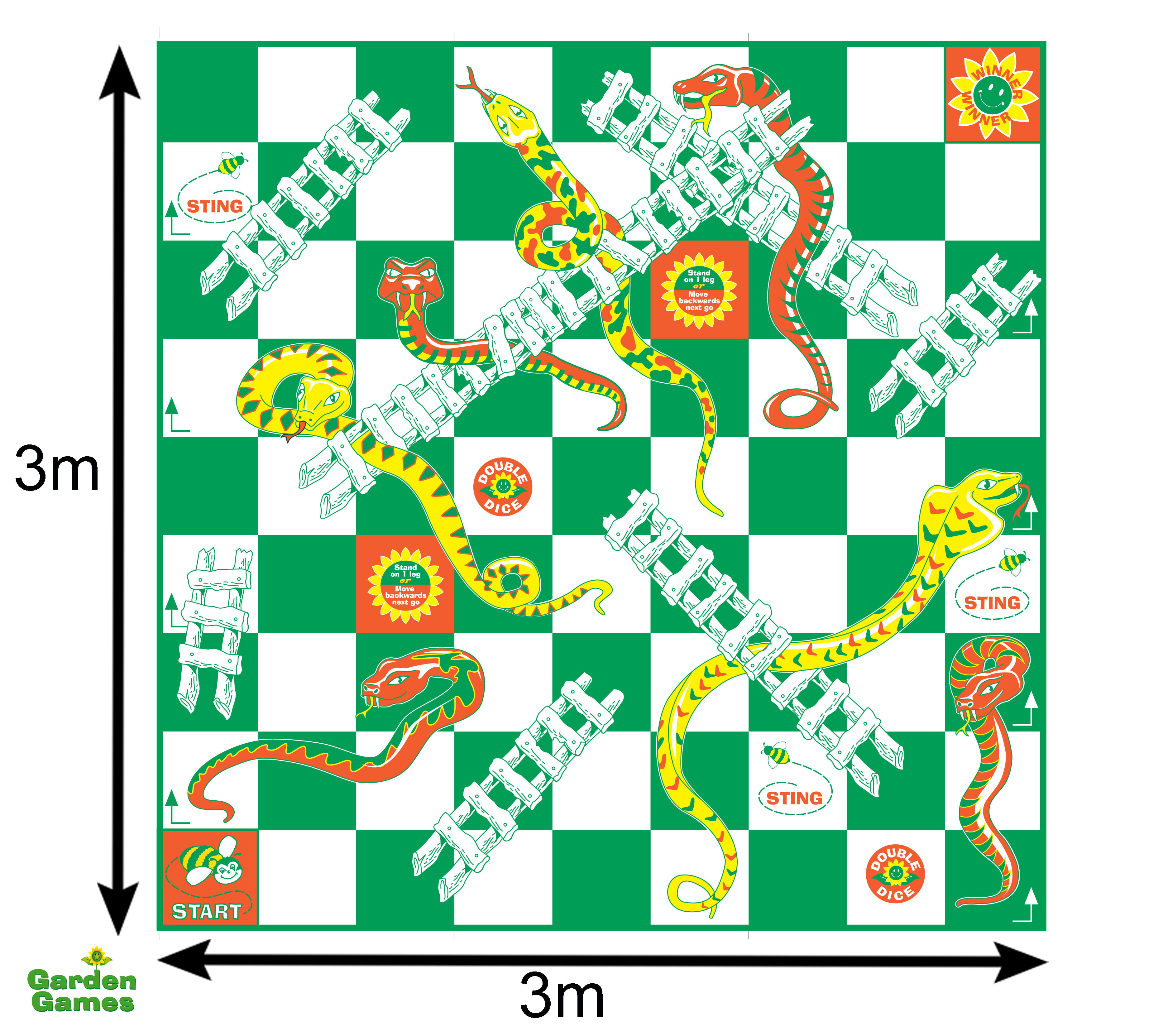 Adventure Zone Toys Garden Games Snakes & Ladders