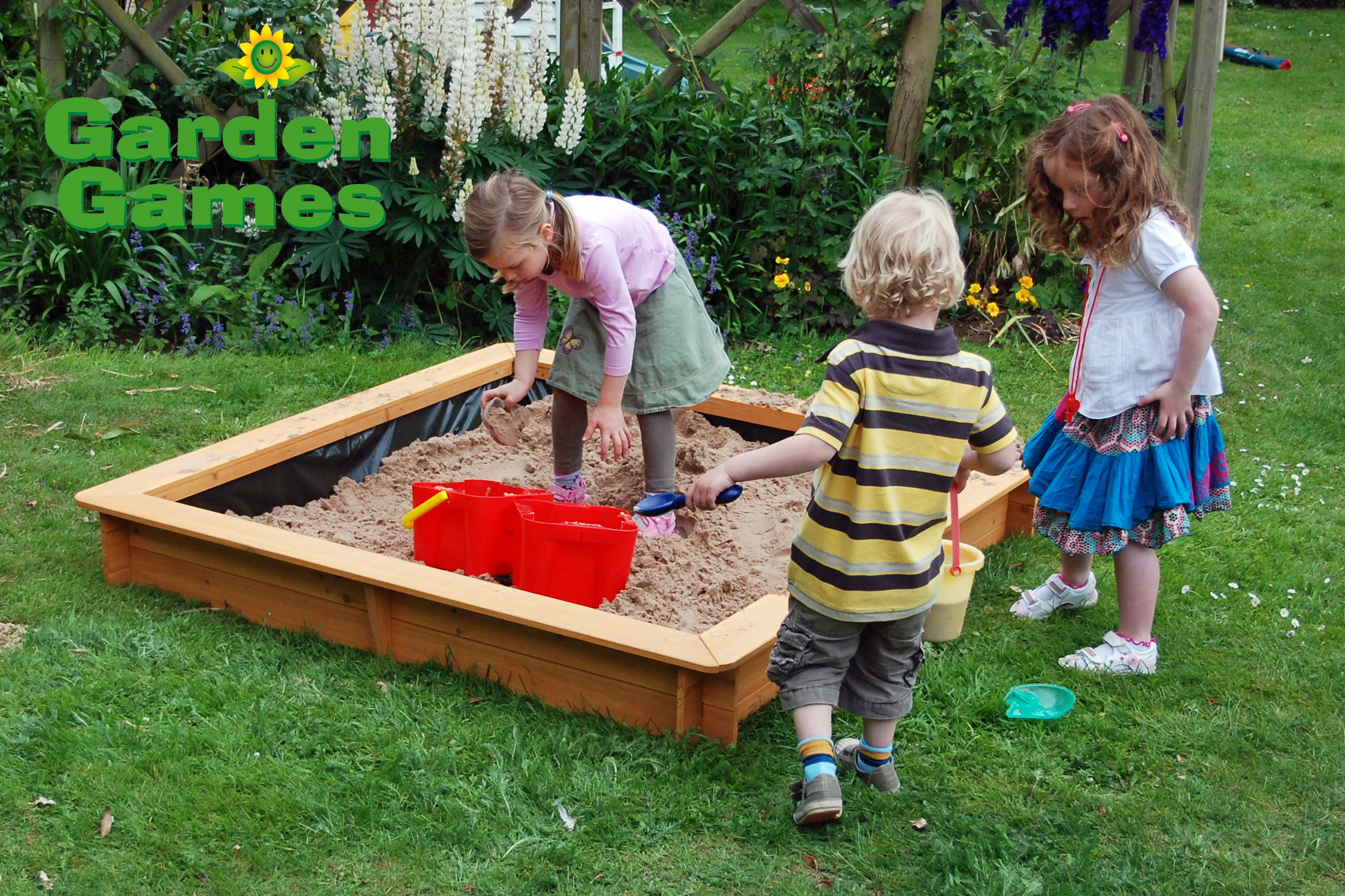 Adventure Zone Toys Garden Games 1.5m Square Sandpit
