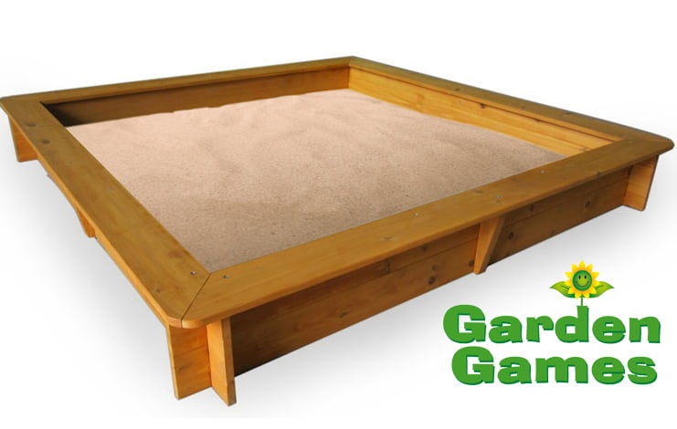 Adventure Zone Toys Garden Games 1.5m Square Sandpit
