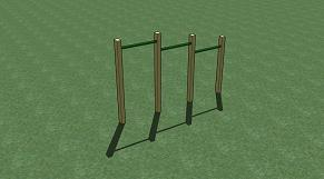 Adventure Zone Toys Home Front Commercial Chin Up Bars