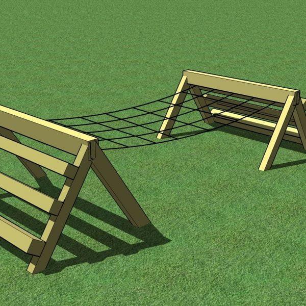 Adventure Zone Toys Home Front Commercial Horizontal Net Bridge